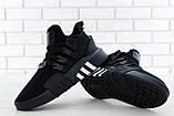 Мужские кроссовки Adidas EQT в стиле Адидас Эквипмент ЧЕРНЫЕ (Реплика ААА+), фото 3