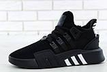 Мужские кроссовки Adidas EQT в стиле Адидас Эквипмент ЧЕРНЫЕ (Реплика ААА+), фото 5