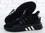 Мужские кроссовки Adidas EQT в стиле Адидас Эквипмент ЧЕРНЫЕ (Реплика ААА+), фото 7