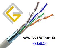 Кабель сетевой AWG PLC 4х2х0,51 F/UTP-cat.5E для внутренней прокладки
