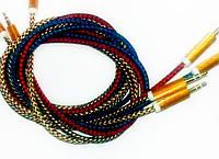 AUX кабель Jack 3.5mm + Jack 3.5mm Синий 1m