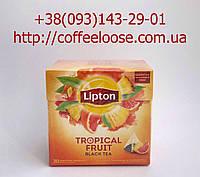 Чай Lipton Tropical Fruit Черный в Пакетиках-Пирамидках  20 шт. Чай Липтон Черный с Ананасом и Грейпфрутом.