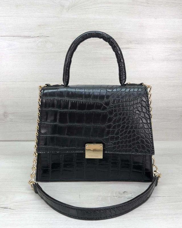 Женская сумка на плечо клатч Лусия черная Welassie
