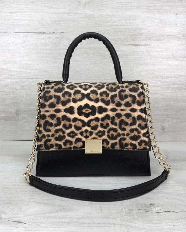 Женская сумка на плечо клатч Лусия леопардовая Welassie