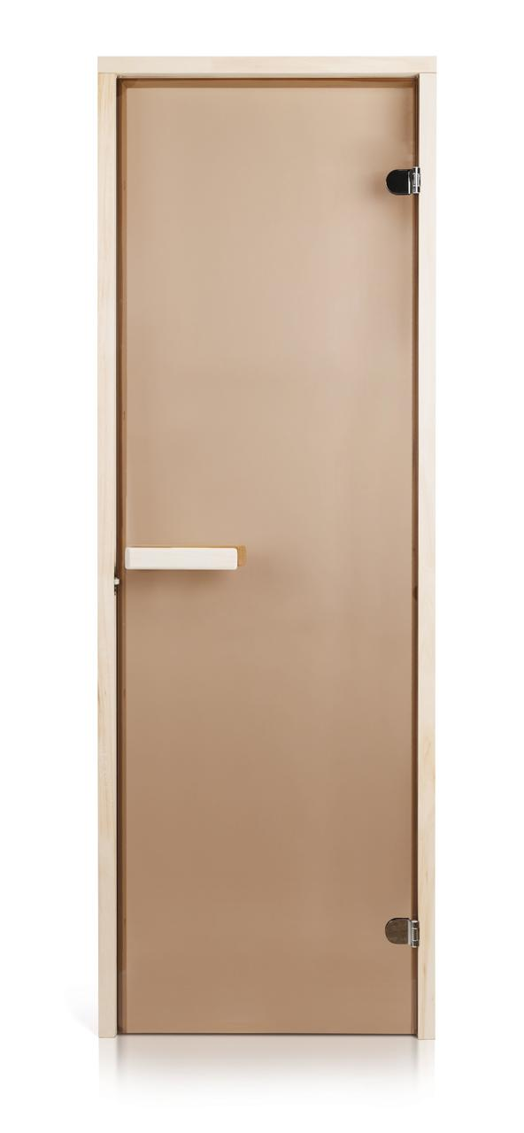 Скляні двері для лазні та сауни GREUS Classic прозора бронза 70/200 липа