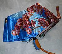 Зонт яркий с цветами женский автомат Париж - Эйфелева башня