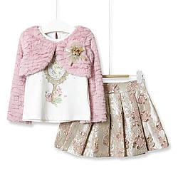 Комплект для девочки 3 в 1 Have a good day, розовый  Baby Rose (92)
