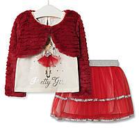 Комплект для девочки 3 в 1 Pretty girl, красный Baby Rose (80)
