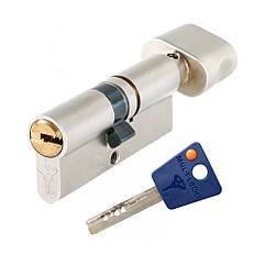 Цилиндр Mul-t-lock 7х7 ключ/поворотник никель 115 мм
