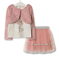 Комплект для девочки 3 в 1 Pretty girl, розовый Baby Rose (80)