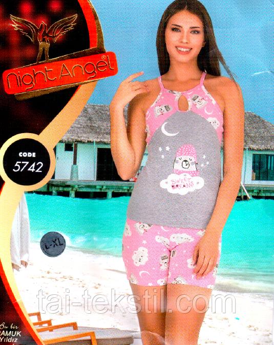 Домашний комплект футболка и шорты Night Аngel № 5742