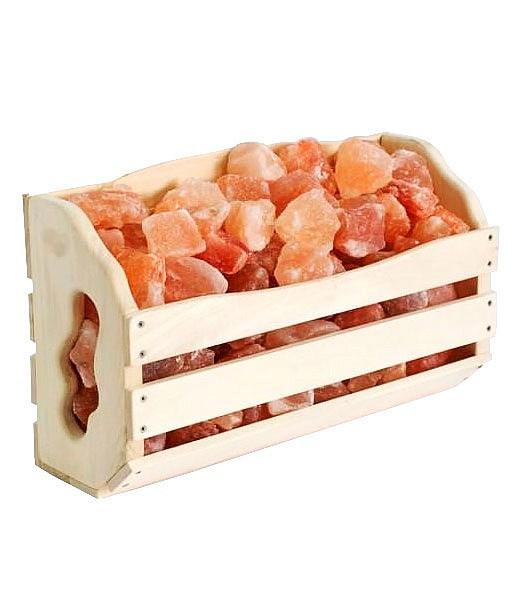 Гималайская розовая соль Полка 10 кг для бани и сауны