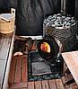 Дровяная печь для бани и сауны IKI Original Plus со стеклянной дверкой и прямым дымоходом, фото 2