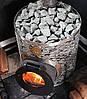 Дровяная печь для бани и сауны IKI Original Plus со стеклянной дверкой и прямым дымоходом, фото 3