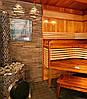 Дровяная печь для бани и сауны IKI Original Plus со стеклянной дверкой и прямым дымоходом, фото 4