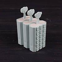 Формы для мороженого и фруктового льда пластик Stenson R87763 набор 3шт 8.3x11.5 см