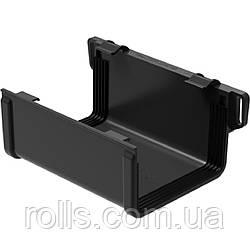 Соединитель желоба Galeko PVC² 135/70×80 з'єднувач ринви водостічної RQ135-_-LA----G Черный