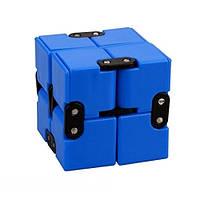Антистресс кубик Infinity Cube Fidget Toy Синий 101185601, КОД: 176626