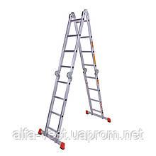 Лестница шарнирная алюминиевая Laddermaster Bellatrix A4A4. 4x4 ступеньки