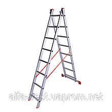 Лестница двухсекционная алюминиевая Laddermaster Sirius A2A8. 2x8 ступенек