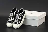 Женские кроссовки Christian Dior Black черного цвета (кеды Кристиан Диор 36-40 весна/лето) есть видео обзор