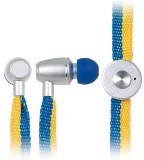 Навушники з мікрофоном Ergo ES-500i Ukraine Синій