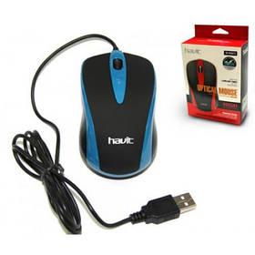USB дротова оптична мишка Havit HVMS675 Blue