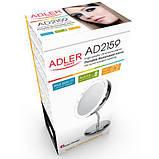 Зеркало косметическое Adler AD 2159 LED 3x zoom, фото 5