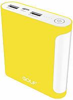 Портативная батарея GOLF Power Bank 10000 mAh GF-D14GB 3.1A Li-pol Yellow
