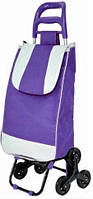 Тачка сумка с тройным колесом кравчучка Stenson MH-2786 95 см, фиолетовая, фото 1