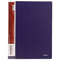 Папка-скоросшиватель Axent А4 синий с пружиной, бок. карм. (1304-02-A)