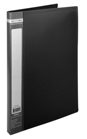 Папка-швидкозшивач А4 Buromax чорний Jobmax з пружиною, пліч. карм. (BM.3406-01)