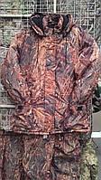 "Костюм зимний (длинная куртка) ""Осенний камыш"", ткань Мембрана. рр 50"