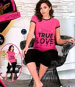 Комплект домашний лосины и футболка Night Angel Турция № 9670