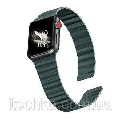 Ремінець Leather Loop for Apple Watch 42mm/44mm Forest Green