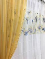 """Кухонные шторы """"Майли"""" Горчица, фото 2"""