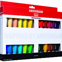 Краски акриловые Royal Talens AMSTERDAM STANDARD набор 24цв по 20мл (8712079329334)