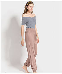 Брюки домашние женские Fly, бежевый Berni Fashion (One Size)