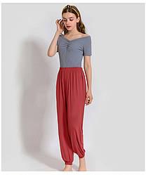 Брюки домашние женские Fly, бордовый Berni Fashion (One Size)