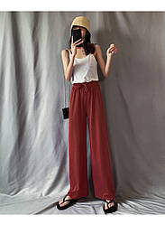 Брюки домашние женские Life, бордовый Berni Fashion (M)