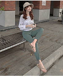 Брюки домашние женские Comfort, хаки Berni Fashion (M)