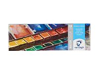 Краски акварельные Royal Talens Van Gogh набор 24цв кюветы (+кисточка) в металлическом пенале (8712079048907)
