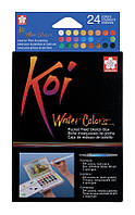 Краски акварельные KOI WATERCOLORS SKETCHBOX Sakura набор 24цв (84511388956)