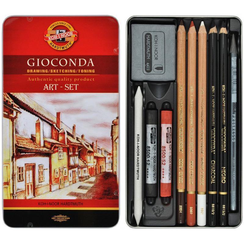 Набор художественный Koh-i-noor Gioconda 10 предметов в металлическом пенале (8890)