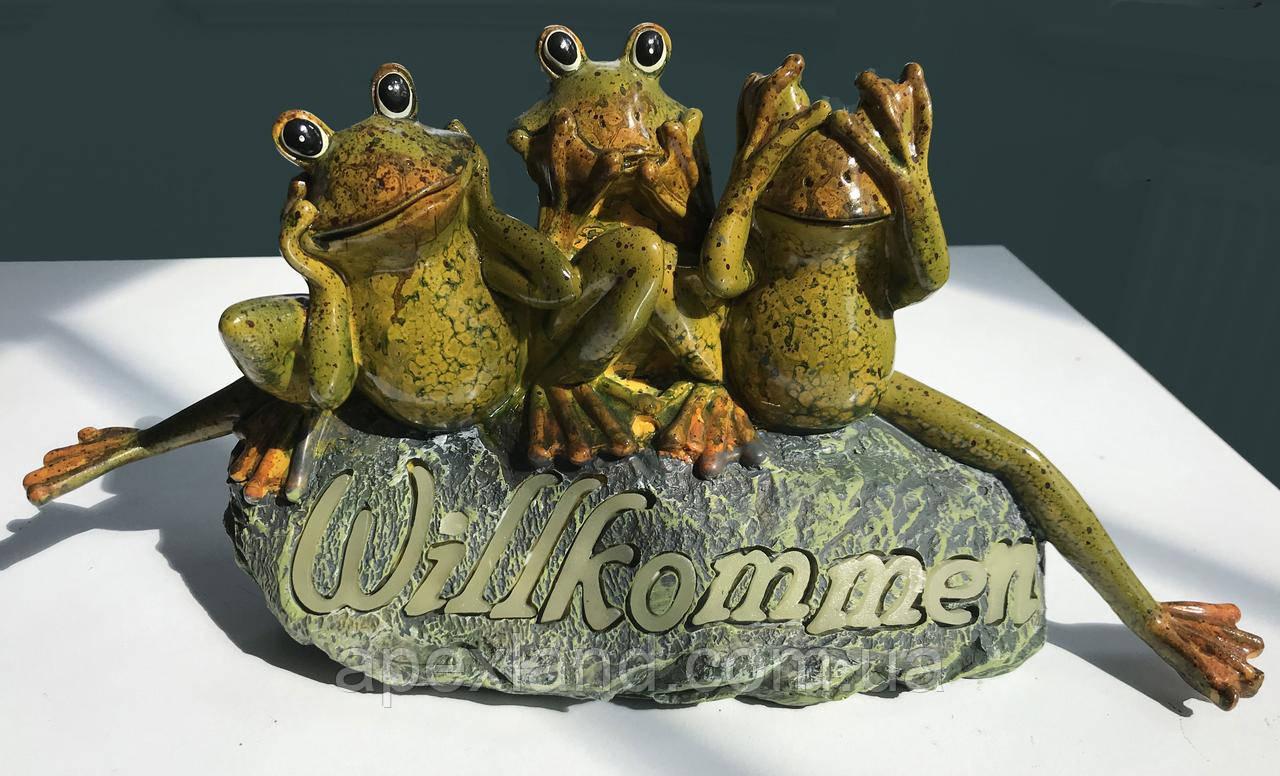 Декоративная фигурка Три Лягушки - ничего не вижу, ничего не слышу...
