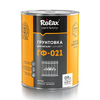 Грунт ГФ-021 Серый Rolax 0,9кг (Грунтовка для металла алкидная ролакс)