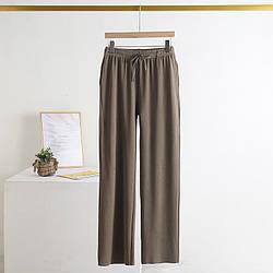 Брюки домашние женские Пушинка, коричневый Berni Fashion (L)