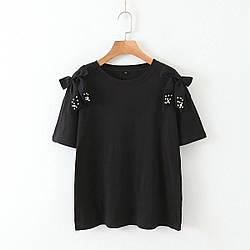 Футболка женская Жемчуг, черный Berni Fashion (S)