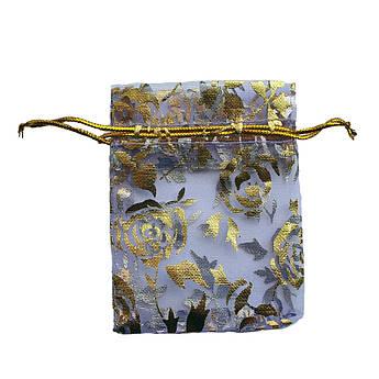 Подарочный мешочек из органзы 7х9 см голубой