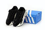 Женские кроссовки Adidas Yeezy Boost 700 в стиле Адидас Изи Буст ЧЕРНЫЕ (Реплика ААА+), фото 4